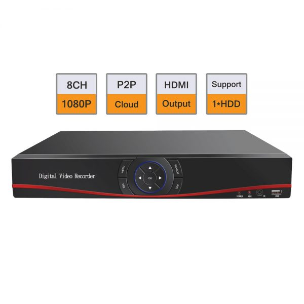 8CH HDMI 960H H.264 Realtime Network Audio DVR for Color CCTV Security camera