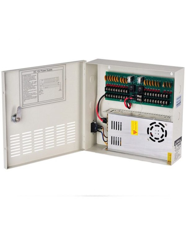 tks-cp121830a-cctv_camera_power_supply_12v_dc_30a_18_channels_boxed_power_distribution_wide_input_range
